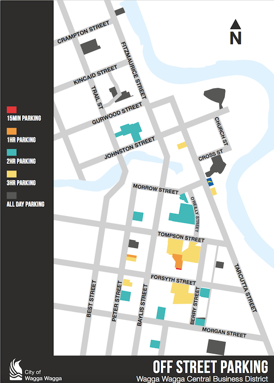 Wagga CBD Parking map