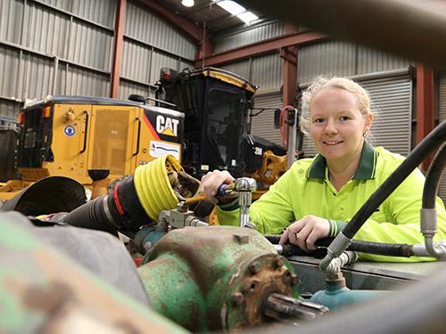 Tegan Muirhead at work