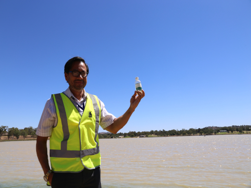 Manager Project Delivery Rupesh Shah is pleased the ultrasound units will remain in Lake Albert for another 16 months.