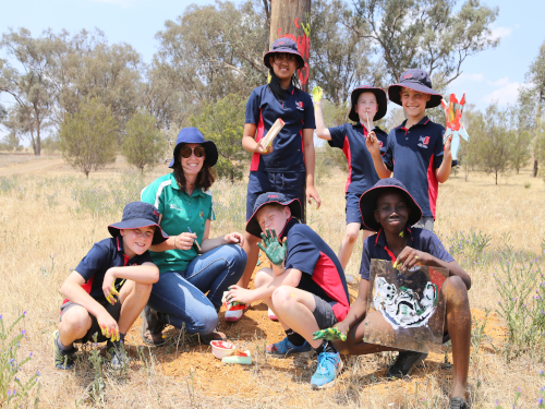 Red Hill Public School pupils brought their artistic flair to the Birramal Conservation Area.