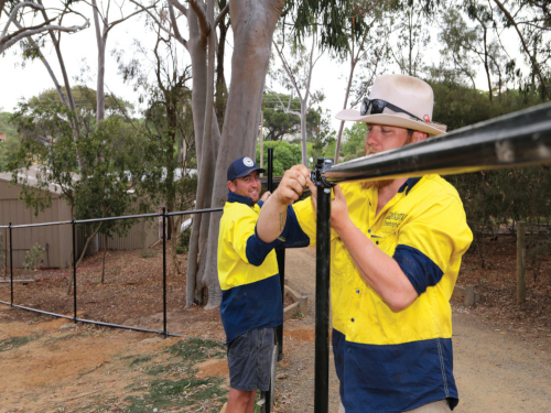 An internal fencing upgrade is progressing smoothly inside the Wagga Wagga Botanic Gardens Zoo.