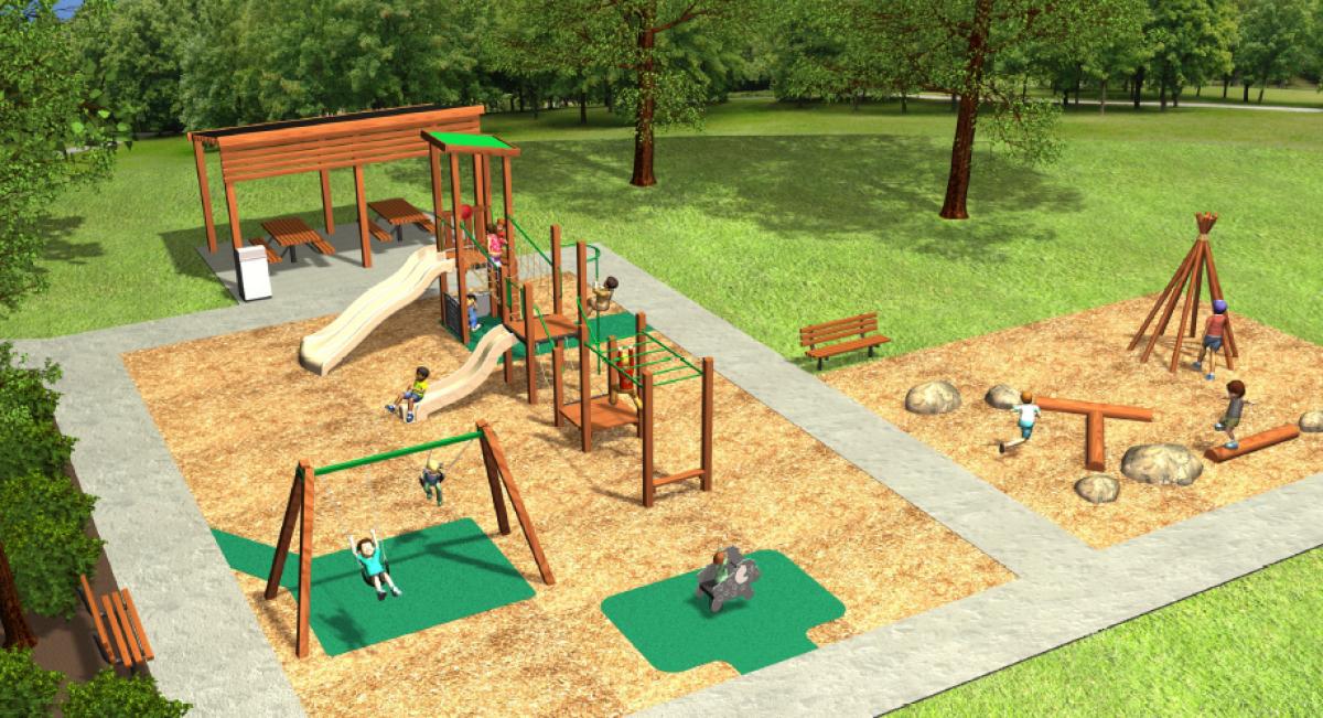 3D design concept of playground