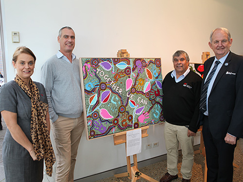 The winning Riverina Local Land Services Reconciliation artwork