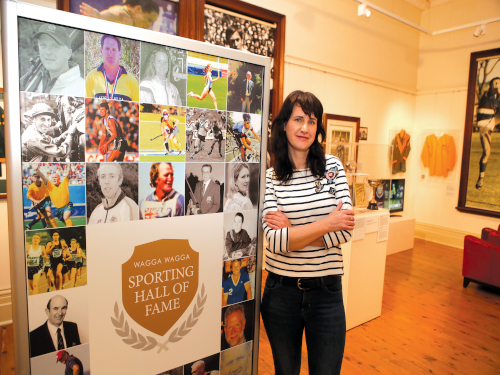 Museum Assistant Sophie Magnusson is keen to welcome visitors into the Sporting Hall of Fame.