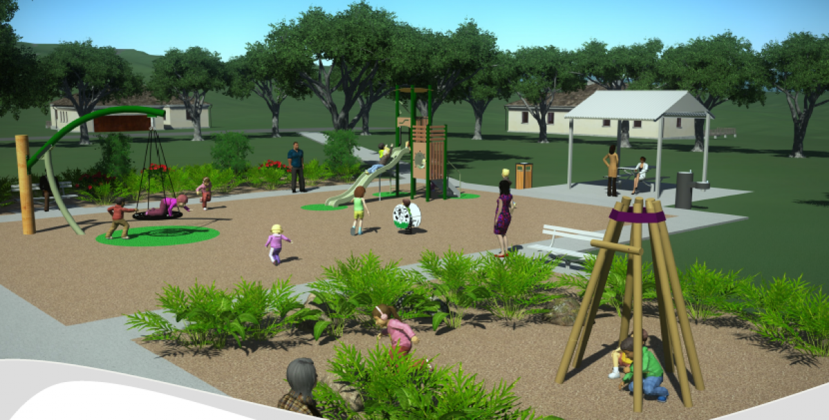Playground Concept 3D drawing option 1