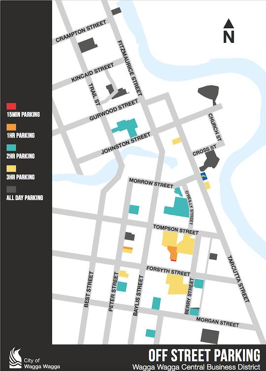 Wagga CBD Parking map