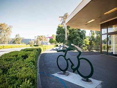 Cyclist Bike Rack