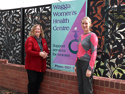 Wagga Women's Health Centre Manager Gail Meyer (left) and Council's Equity Project Manager Maryna Bilousova