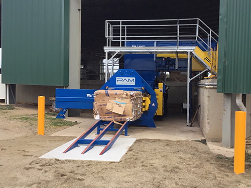 New compactor at the Gregadoo Waste Management Centre