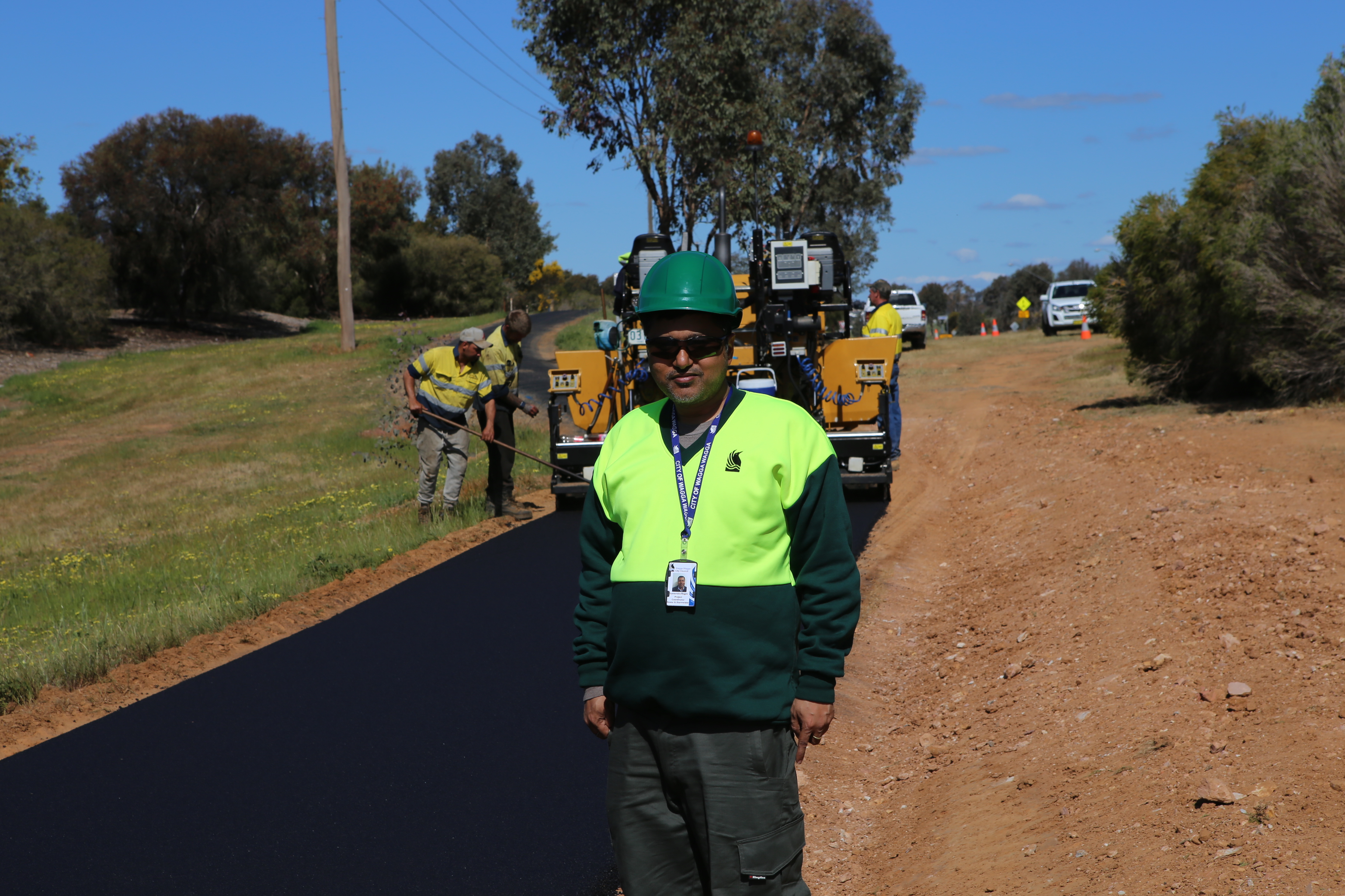 Council's Project Coordinator Gyanendra Regmi visits the Red Hill Link to check out the exciting progress.