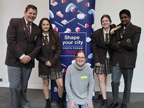 Ben Nosworthy, Katie Harper, Holly Mack, Amelia Hanson and Yomith Piyasiri discuss their bright ideas for Wagga's future.