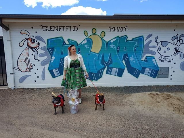 Catalina McCaw visits the Glenfield Road Animal Shelter every Christmas with her beloved dogs.