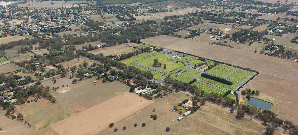 Cemetery aerial image