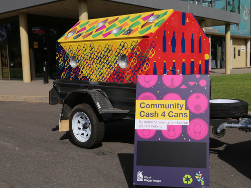 Community Cash for Cans Trailer