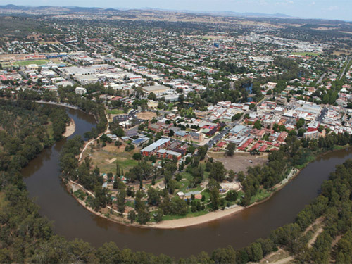 Aerial view of Wagga Wagga