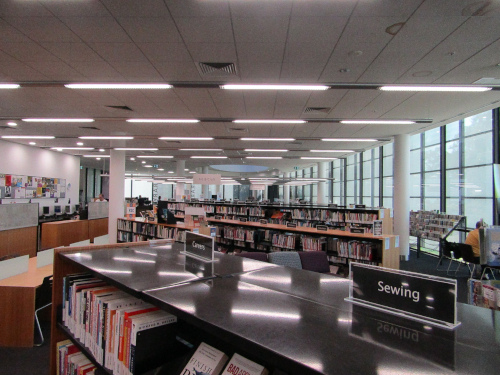 The new lights are attracting plenty of positive attention in the library.