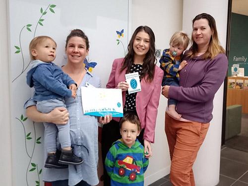 Breastfeeding Welcome Here sticker presentation