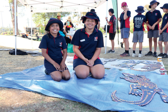Red Hill Public School captains, Elizabeth Niki and Kakala Uoifalehahi, were proud to represent their school at the event.